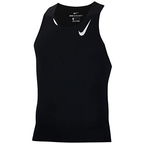Nike Aeroswift Cj7835-010 - Canottiera da corsa da uomo, Uomo, Nero/Bianco, X-Large