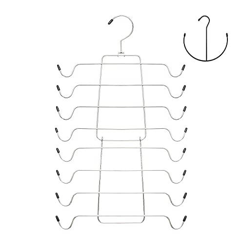 Niclogi Tank Tops Hanger Bra Hangers 2 Pack Space Saving Hanger Metal Folding Closet Organizer for Tank Tops, Cami, Bras, Bathing Suits, Belts, Ties