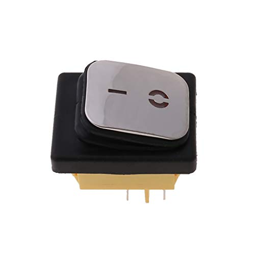 BELTI Interruptor basculante Impermeable Superficie de Acero Inoxidable 30A 220V LED 4Pin IP67 On-Off