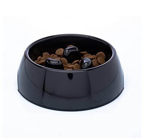 DDOXX Fressnapf Antischlingnapf, rutschfest   viele Farben & Größen   für kleine & große Hunde   Futter-Napf Katze   Hunde-Napf Hund   Katzen-Napf   Melamin-Napf   Schwarz, 140 ml