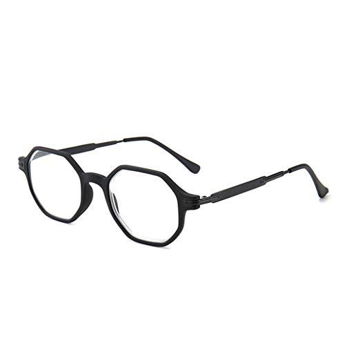 LVLUOKJ Gafas De Lectura Retro Mujer Hombre Antireflejos Gafas Ordenador Gafas De Lectura (Color : Black, Size : +3.50)