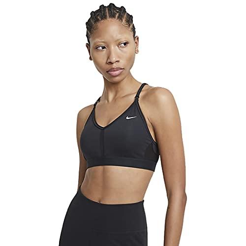 Nike Df Indy V-Neck Sports Bra Black/Black/Black/White M