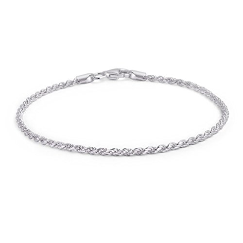 Amesii - Bracciale rigido da donna in argento sterling 925, attorcigliato, con chiusura a moschettone, ideale per feste