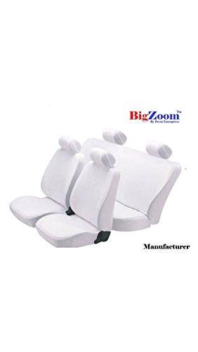 Bigzoom Stylish (DENIM-101) Car Seat Cover for Maruti New Baleno-(White)