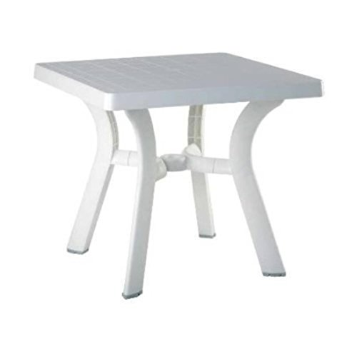 Compamia Viva Resin Square Dining Table in White