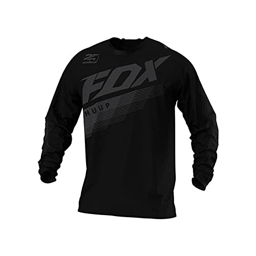 Motorcycle Mountain Bike Team Downhill Jersey MTB Offroad Dh Fxr Bicycle Locomotive Shirt Cross Country Mountain Huup Fox Jersey-XS
