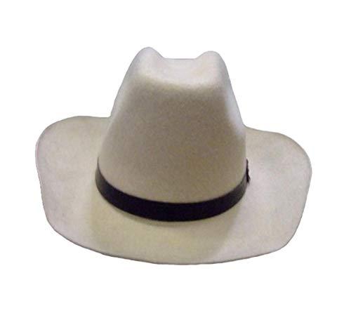 Gorra beige mármol de fieltro, color beige, modelo Cow Boy, talla 59