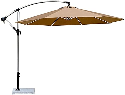 NFRMJMR Jardín Parasol Piscina Paraguas Tiling Garden Parasol Paraguas 2.7m-3m, Mano de manivela Marco de Aluminio 360 Grados Girar, Gran Sombra al Aire Libre con Mango 210604 (Color: c)