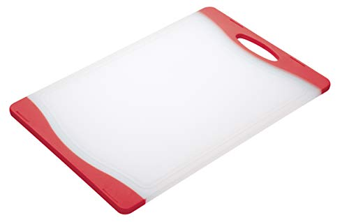Colourworks - Tabla de cortar reversible (36,5 x 25 cm), color Rojo