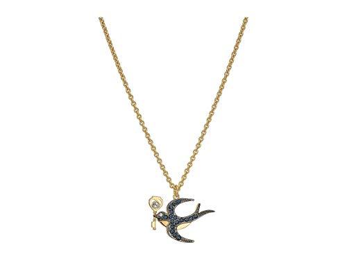 Swarovski Tarot Magic Necklace Bird Blue Gold Plated