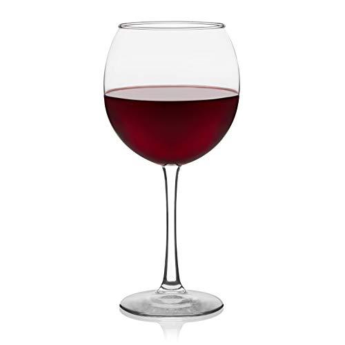 Libbey Vina Red Wine Glasses, Set of 6