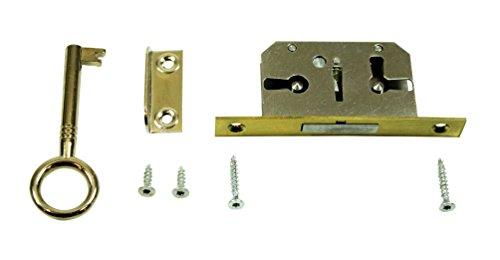 SN-TEC Einsteckschloss/Möbelschloss / Schrankschloss mit Zuhaltung 15mm Dornmaß rechts/links/oben verwendbar incl. Zubehör