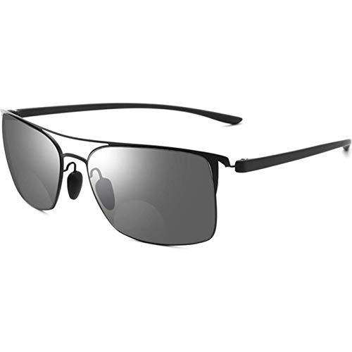 Reading Glasses Gafas de Sol Polarizadas Ligeras Cuadradas Cómodas Gafas de Lectura con Bisagras de Resorte para Mujeres y Hombres