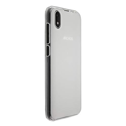 caseroxx TPU-Hülle für Archos Oxygen 57, Handy Hülle Tasche (TPU-Hülle in weiß-transparent)