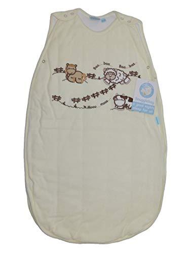 Snugglebag Sleepbag Baa Baa/Mooo Mooo colore: crema