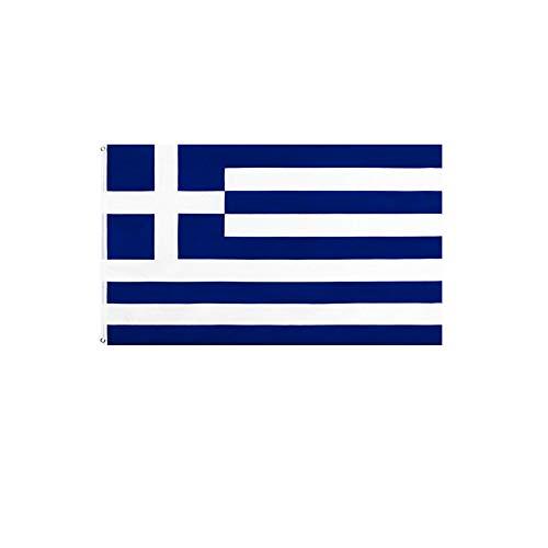 stormflag Griechenland Flagges (90cmx150cm) Polyester Pongee 90g mit Ösen mit Doppelnadel genäht.