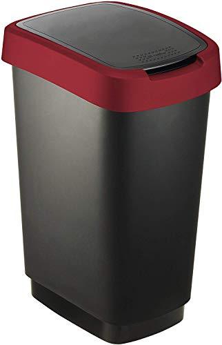 Rotho Cubo de Basura, Rojo, 50 L