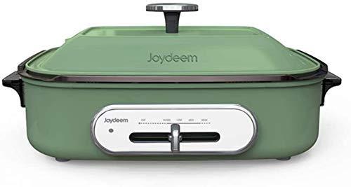 Joydeem Compact Hot Plate, Grill Indoor Hot Pot, Teppanyaki Grill,Akashiki Pan,Octopus balls Pan,Shabu Pot (4L) with 4-gear Temperature Control, Suitable For 2-6 People Gatherings,Mint Green(110V)