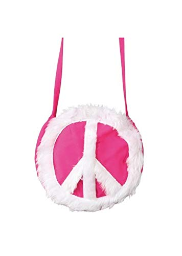 narrenkiste O47445 Peace Hippie - Bolso bandolera para mujer, color rosa