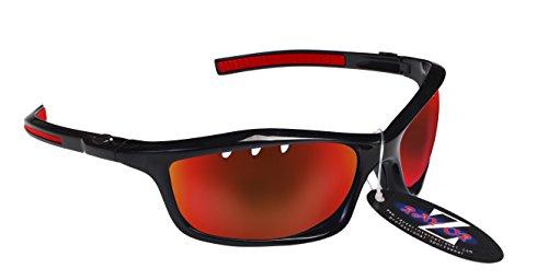 RayZor - Gafas de sol de senderismo UV400 para deportes, ligeras, con lente antirreflejos de iridio rojo ventilado