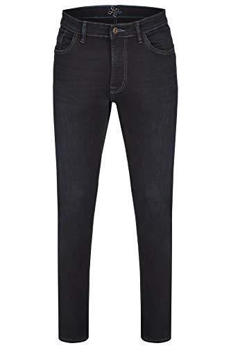 Hattric Herren High-Stretch Hunter Straight Jeans, Blau (Blue Black 48), W38/L34