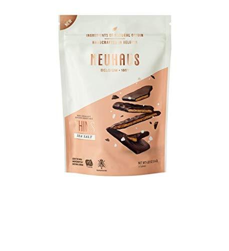 Neuhaus - Biscuits Nougatine con sal de Guérande bañados de chocolate negro 114 g
