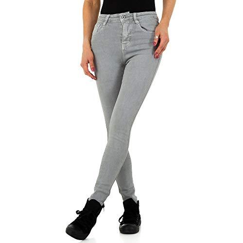 Ital Design Damen HIGH Waist Skinny Jeans Laulia Gr. XS/34 Grau