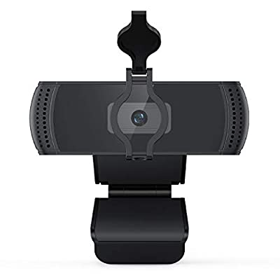 Webcam with Microphone and Privacy Cover, BOIFU...