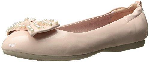 Ivy-09 de la bailarina plegable con el arco y la laca perla del detalle del bebé de color rosa - Rockabilly de la vendimia - (UE 36 = US 6) - Pin Up Couture