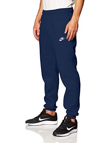 Nike Sportswear Club Fleece Hose für Herren L blau/weiß (Midnight Navy/Midnight Navy/White)