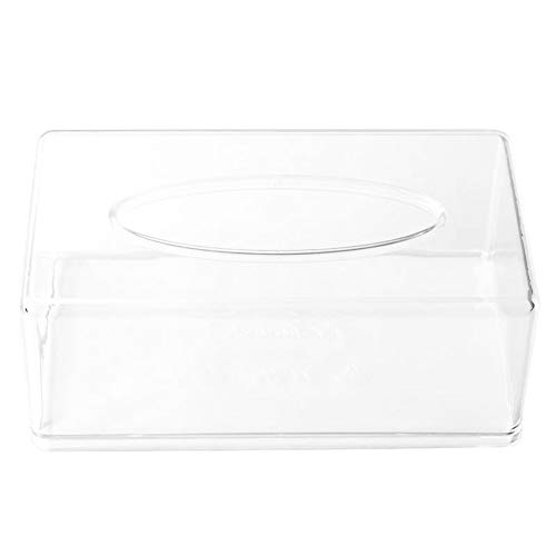 Dispensador de toallitas caja de la caja del tejido titular de acrílico claro de la cubierta transparente de la caja servilleta del dispensador de la cubierta rectangular Inicio baño Restaurante
