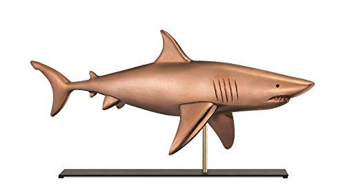 Buenas direcciones, Inc. (gp2z0) Forma de Gallo Veleta de tiburón Escultura de Mesa/Soporte de Chimenea, Pure náutico decoración, Mesa Accent, Cobre, 76,2x 15,24x 35,56cm