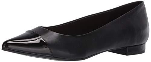 Aerosoles Farmingdale, Zapatos Tipo Ballet para Mujer, Piel Negra, 42 EU