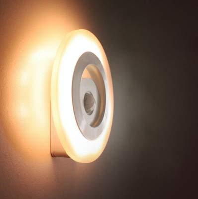 360 Viento De Moda Led De Inducción Luz Nocturna Cuerpo Inteligente Steuerung De Luz Infrarrojo Led Pasillo Lámpara De Inducción Luz Nocturna Huang Guang 112 * 112Mm
