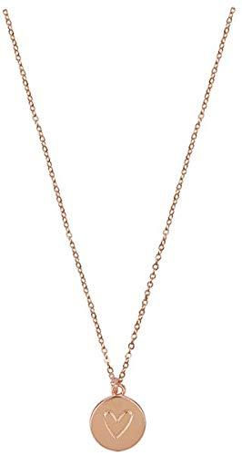 Kette - Halskette mit Herzanhänger: (rosévergoldet)