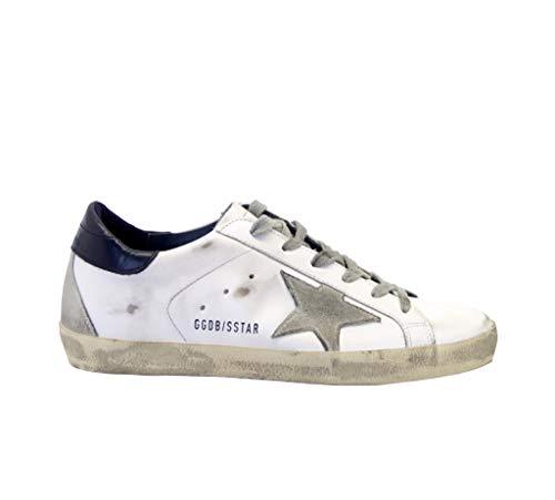 Golden Goose Sneakers Superstar Bianco Blu, 41