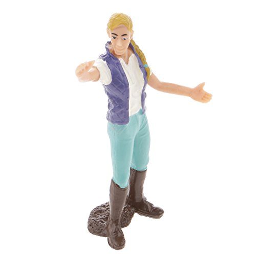 Figurine Personnage Fermière Modèle Figure Action Modélisme de la Ferme Jouet Enfant Cadeau - Agricultrice, 8cm