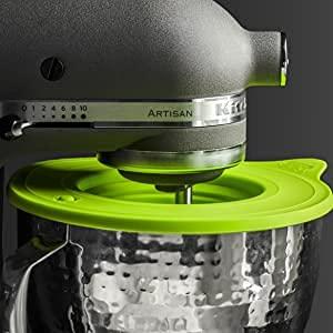 Frischhaltedeckel Überzieher Rührschüssel Silikon Deckel spülmaschinenfest | Zubehör für KitchenAid Kitchen Aid Rührschüsseldeckel mit Airlock-Ventil für 3l 4,3l 4,8l Schüssel Kochen Backen