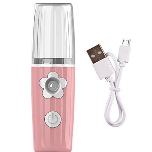 Sanfiyya Vapor de hidratación Facial Recargable portátil de Mister Facial con USB para el Cuidado de la Piel Rosa 38 ml