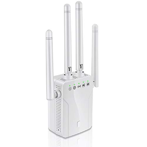 WiFi Range Extender and Super Booster, Suitable for House Repeater 1200Mbps (2500 FT) WiFi 2.4 and 5GHz Dual-Band WPS Wireless Signal has Strong penetrating