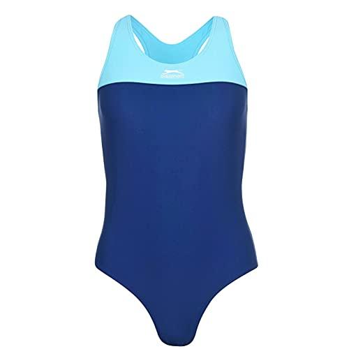 Slazenger Damen Ringerruecken Badeanzug Schwimmanzug Bademode Schwimmen Strand Blau 22 (XXXXL)