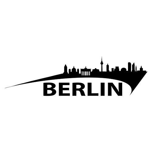 Auto Tattoo Aufkleber - Skyline Berlin - M - 30x10cm
