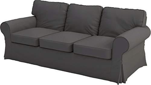 The Sofa Cover Replacement is Custom Made for IKEA Ektorp Three Seat Sofa. Cover Only! Ektorp Slipcover Replacement ( 3 Seat Sofa, Dark Gray Polyester)