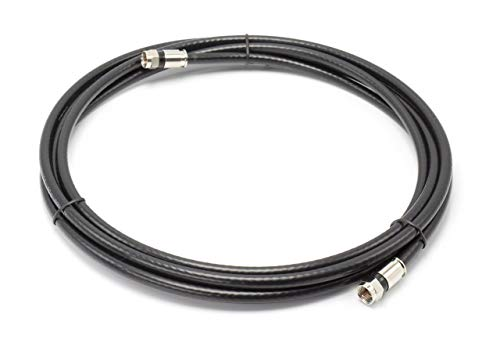 25#039 Feet Black RG6 Coaxial Cable Coax Cable with Connectors F81 / RF Digital Coax  AV Cable TV Antenna and Satellite CL2 Rated 25 Foot
