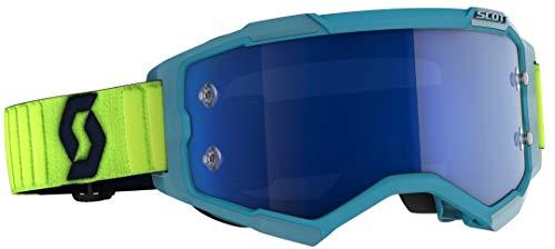 Scott Fury MX Goggle - Gafas de cross/MTB, color turquesa, amarillo y azul