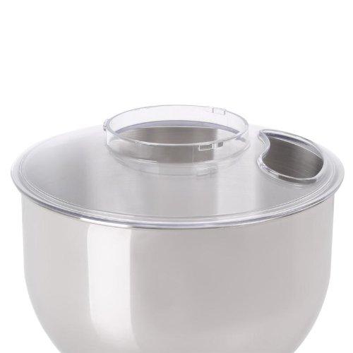 Klarstein Küchenmaschinen Deckel - Ersatzteil, Zubehör, Spritzschutz, hochwertiger Kunststoff, seitliche Öffnung Bella-Reihe Lucia-Reihe, 23 x 3,5 x 23 cm, transparent