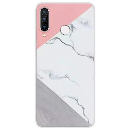 Eouine Capa para Samsung Galaxy A50/ A30s /A50s, capa de telefone 3D silicone cor branca com estampa de desenho animado ultrafina, à prova de choque, capa de borracha macia, 10