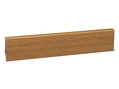 Sockelleiste Mega-Profil-58 (20x58x2500 mm) Eiche hell natur mdf foliert
