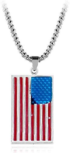 Collares de la Bandera Americana USA Patriot Liberty s Army Dog Tag Colgante Hombres Patriot Accesorios