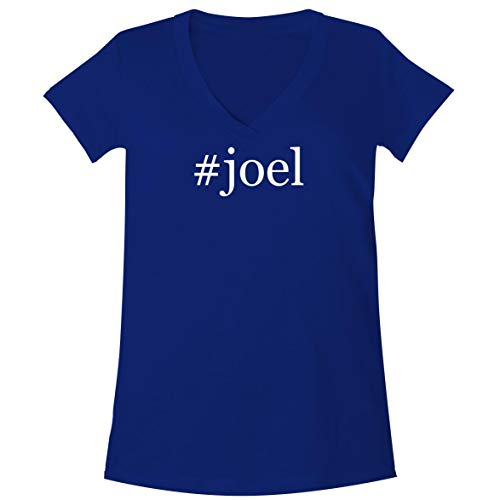 The Town Butler #Joel - A Soft & Comfortable Women's V-Neck T-Shirt, Blue, XX-Large